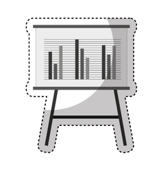 Paperboard training isolated icon vector