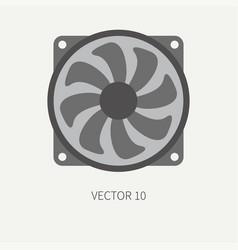 Plain flat color computer part icon cooling vector