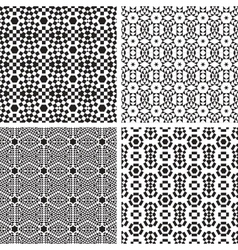 Geometric ornaments pattern set vector