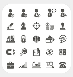 Business human resource and finance icons set vector