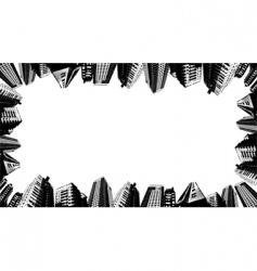 urban border vector image