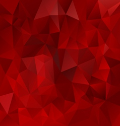 Glowing red polygonal triangular pattern vector