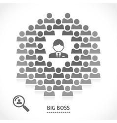 Concept of big boss team building vector