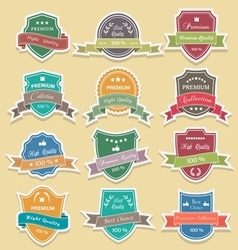 Set of premium quality labels sticker vector
