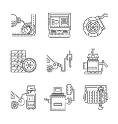 Icons for car service vector