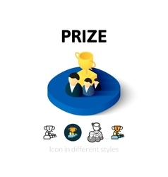 Prize icon in different style vector
