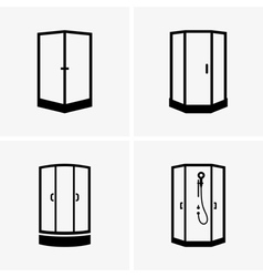 Shower cabins vector