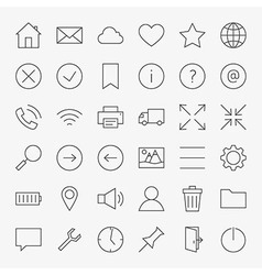 Line web and user interface design icons big set vector