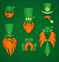 Irish people in hats signs vector