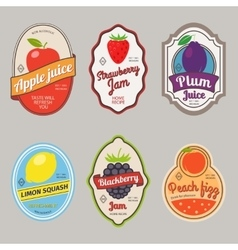 Retro fruit posters or labels vector