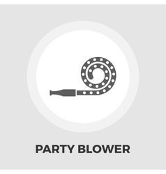 Party blower icon flat vector
