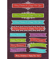 A set of Christmas design vector image