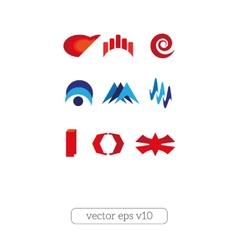 Abstract logo design template set vector image