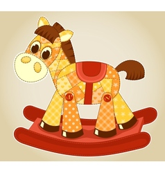 Application rocking horse vector image