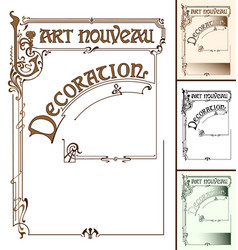 Art nouveau decoration frame vector
