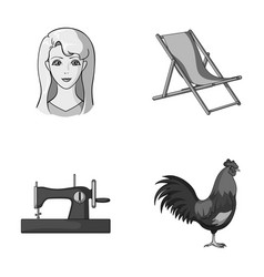 Atelier travel and other monochrome icon in vector
