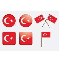 badges with flag of Turkey vector image vector image