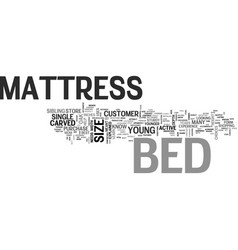 Bed mattress text word cloud concept vector