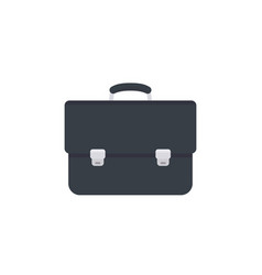 business briefcase icon black leather vector image vector image