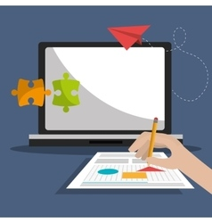 Creative process graphic design them vector