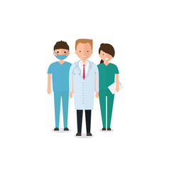 doctors and other hospital staff vector image
