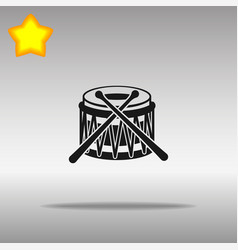 Drum black icon button logo symbol vector