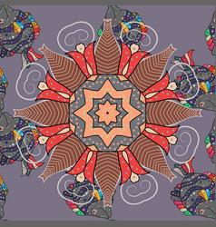 East islam indian motif revival swirling ethnic vector