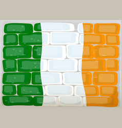 Flag of ireland painted on wall vector