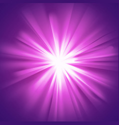 Glowing light violet burst vector