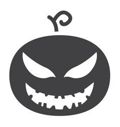 Halloween pumpkin glyph icon halloween and scary vector
