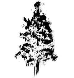 Hand drawn textured firtree vector
