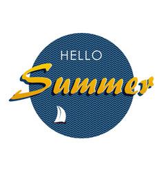Hello summer 1 vector