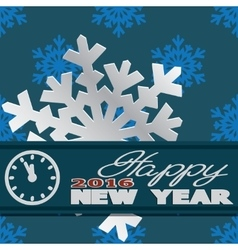 Holiday card with snowflakes and says vector image