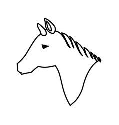 Horse animal silhouette vector