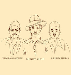Indian background with nation hero freedom fighter vector