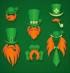 Irish people in hats signs vector