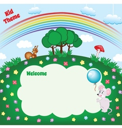 Kid cartoon layout vector image vector image