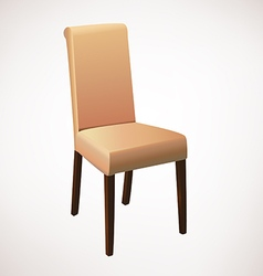 Light brown dining chair vector