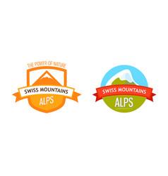 Logo of swiss alps vector