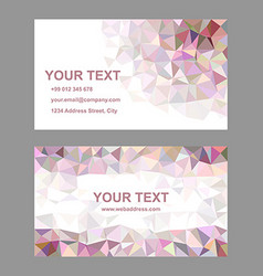 Multicolor triangle design business card template vector