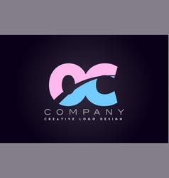 oc alphabet letter join joined letter logo design vector image