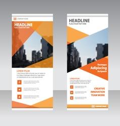 Orange polygon Business Roll Up Banner flat design vector image