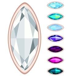 oval gemstone set vector image vector image