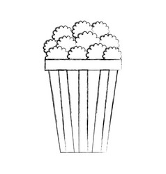 Pop corn isolated icon vector