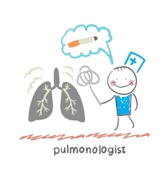 Pulmonologist knocks dust from the human lung vector