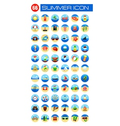 Summer icon set Summer Vacation vector image vector image