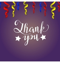 Thank you card lettering vector