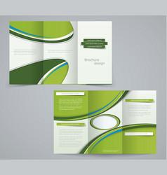 three fold brochure template vector image