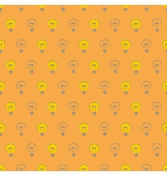 Tile pattern with light bulbs on orange background vector image vector image