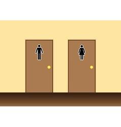 Toilets vector image vector image